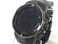 CASIO PRO TREK カシオ プロトレック ブラックチタンリミテッド PRW-3000YT-1JF 腕時計 電波ソーラー メンズ