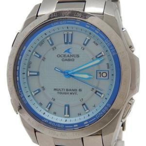 CASIO カシオ OCEANUS オシアナス OCW-T100 腕時計 ソーラー 電波 メンズ ブルー文字盤