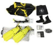 AQUA LUNG シュノーケル フィン マスク ブーツ セット ダイビング