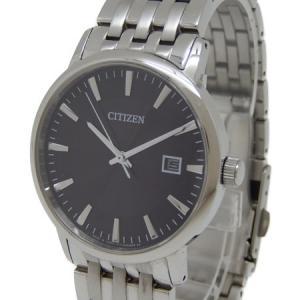 CITIZEN シチズン エコドライブ デイト E111-S067901 ブラック文字盤 SS ソーラー メンズ 腕時計