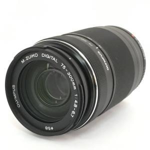 OLYMPUS オリンパス M.ZUIKO DIGITAL ED 75-300mm F4.8-6.7 II カメラ ズームレンズ 望遠 ブラック