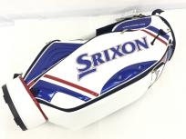 DUNLOP SRIXON GGC-S145 9.5型 キャディバッグ ゴルフ 合成皮革 ホワイト ネイビー