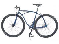 T19 × HOW I ROLL MINIUM 700×35C 500サイズ ブルー系 ピストバイク 自転車 大型