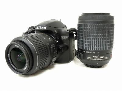 Nikon 一眼レフ D3200 ダブルズームキット デジタル カメラ D3200BKWZ ニコン