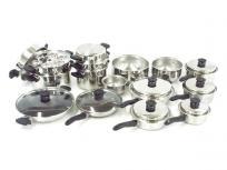 Amway クイーン クック 24P ノンスティック フライパン ミキシング ボウル ザル セット 料理 キッチン
