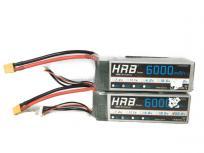HRB 6000mAh 22.2V バッテリー 50C 2set