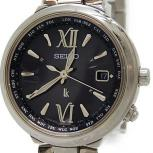 SEIKO セイコー 腕時計 ルキア 1B25-0AL0 レディース ダークグレー ソーラー