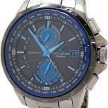 CASIO オシアナス OCW-T1000 ソーラー電波時計 腕時計 チタン ブルー系 本体のみ