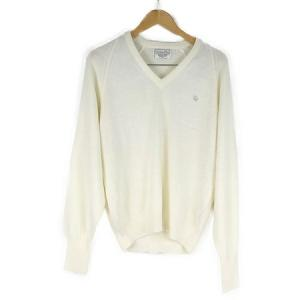 Christian Dior クリスチャンディオール Vネックセーター アクリル メンズ ホワイト アメリカ製 サイズS