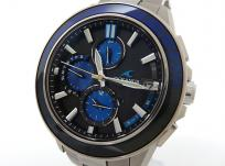 CASIO カシオ オシアナスマンタ 腕時計 メンズ サファイアベゼル ソーラー 江戸切子 OCW-S4000C-1AJF