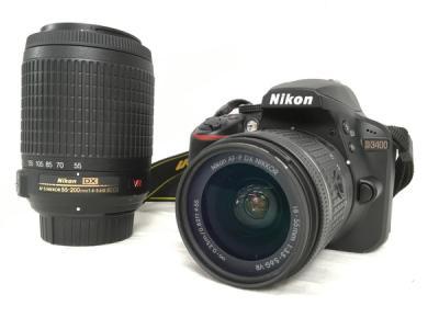Nikon D3400 18-55VR Kit AF-P NIKKOR 18-55mm レンズ キット 55-200mm レンズ 付き