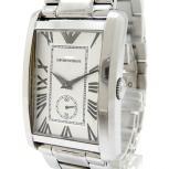 EMPORIO ARMANI エンポリオアルマーニ 腕時計 AR-1607 スモールセコンド メンズ スクエア クォーツ