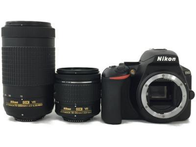 Nikon デジタル一眼レフカメラ D5600 ダブルズームキット ブラック D5600WZBK カメラ