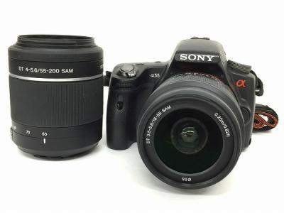 SONY α55 ダブルズームレンズキット デジタル一眼レフカメラ SLT-A55VY