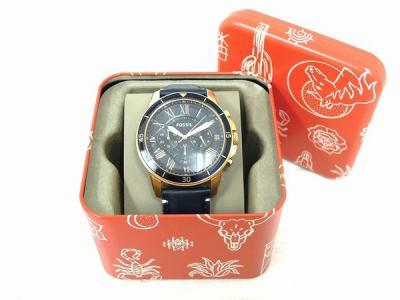 FOSSIL FS5237 腕時計 グラント スポーツ クロノグラフ ブルーレザー ウォッチ メンズ フォッシル