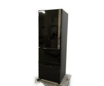 HITACHI 日立 R-K38JV (TD) 3ドア 冷凍 冷蔵庫 375L ダークブラウン 2019年製 大型