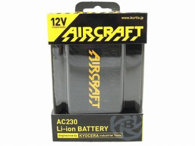 BURTLE AC230 Li-ion BATTERY AIR CRAFT ブラック バートル バッテリー