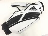 アディダス キャディバッグ AWS31 ホワイト×ブラック系 adidas ゴルフ 用品
