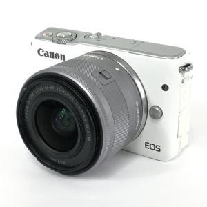 EOS M10 EF-M 15-45mm 4:3.5-6.3 IS STM キヤノン ミラーレス 一眼 EOS M10 レンズキット ホワイト カメラ 訳あり