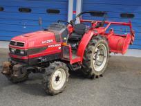 宮城県 仙台市 三菱 トラクター MT285 28馬力 4WD 2079h ロータリー 機具 農業機械の買取