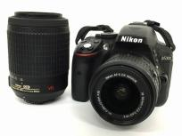 NIKON D5300 18-55 VR II Kit AF-S DX VR 55-200mm f4-5.6G IF-ED デジタル一眼 レンズセット