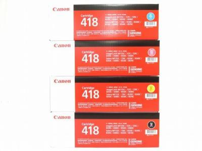 Canon 418 4色セット カートリッジ イエロー マゼンタ シアン ブラック キャノン