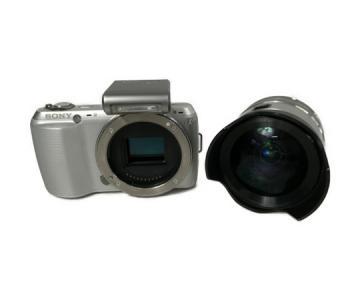 SONY ソニー α NEX-C3 W カメラ ミラーレス一眼 ホワイト SEL16F28 広角レンズ セット