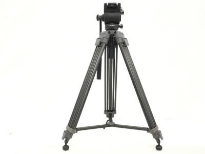 Libec TH-650DV DUAL HEAD TH-X 雲台付 3段 三脚 ビデオ カメラ機材