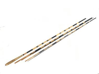 島田汀石 作 12尺 和竿 竹竿 釣具