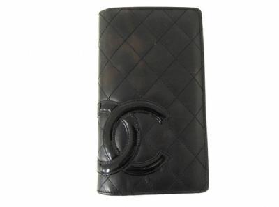 CHANEL 長財布 カンボンライン ココマーク ブラック ピンク ウォレット ロングウォレット シャネル
