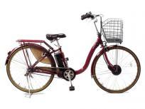 BRIDGESTONE フロンティア デラックス F6DB49 F.Xベルベットローズ 専用充電器付き 電動アシスト自転車 楽 大型の買取