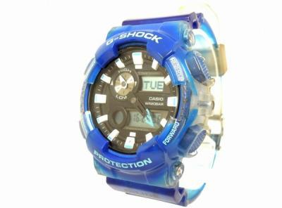 CASIO G-SHOCK GAX-100MSA 腕時計 ジーショック スケルトン クリア ブルー系 カシオ