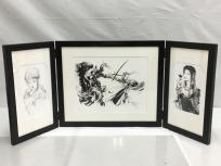 天野喜孝 黒と銀 版画 エッチング 限定100部 作品 直筆サインの買取
