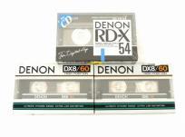 DENON DX8/60 RD-X 54 カセットテープ ハイポジ 3点 まとめ セット デノン