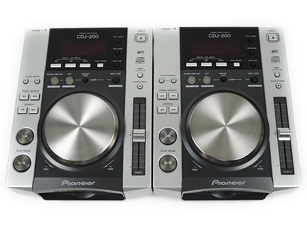 Pioneer パイオニア CDJ-200 DJ機器 ターンテーブル CD用 2台セット