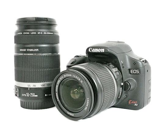 Canon キヤノン EOS Kiss X3 ダブルズームキット KISSX3-WKIT デジタル 一眼レフ カメラ