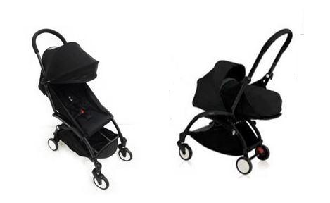 Baby Zen ベビーゼン ヨーヨープラス 0+ 6+ セット ベビーカー ブラックフレーム Yoyo 6+ ブラック コンパクト