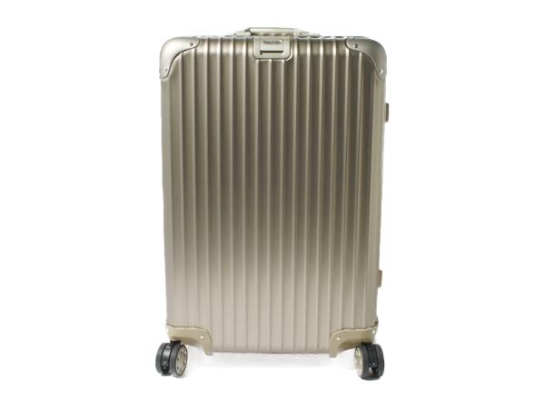 RIMOWA リモワ スーツケース 64L 3〜5泊 トパーズ チタニウム マルチホイール 94563 チタンゴールド 4輪 TSAロック