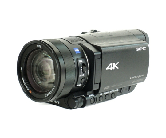 SONY ソニー ビデオカメラ FDR-AX100 4K 光学12倍 ブラック Handycam ハンディカム カメラ