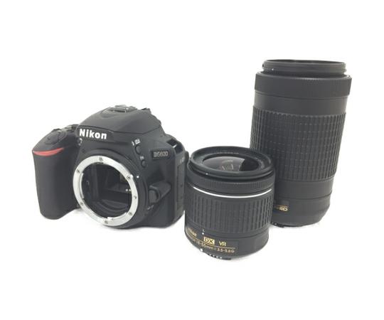 Nikon ニコン 一眼レフ D5600 ダブルズームキット デジタル カメラ 2416万画素 Wi-Fi Bluetooth対応