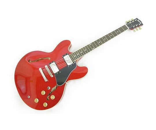 Burny RSA-65 Cherry Red セミアコースティックギター