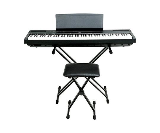 YAMAHA ヤマハ 電子ピアノ P-125B 88鍵 スタンド 椅子セット ペダル付 ハンマー鍵盤 ブラック ピアノタッチ