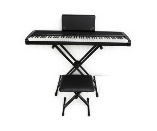 KORG コルグ B1 電子ピアノ 88鍵 スタンド 椅子セット ペダル付 ハンマー鍵盤 ブラック