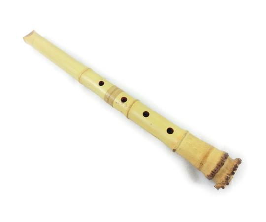 五孔尺八 地入 都山流 太郎銘  1尺5寸 約47cm 和楽器
