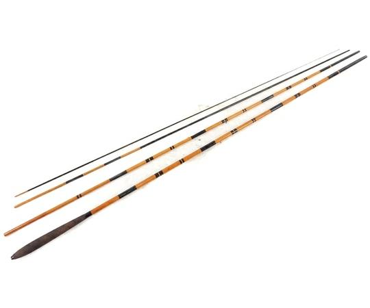 水かげ 中式 京楽  14.1尺 竹竿 趣味 スポーツ コレクション 釣り フィッシン へら竿