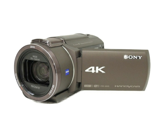 SONY ソニー ビデオカメラ FDR-AX45 ハンディカム ブロンズブラウン 内蔵64GB 4K 空間光学手ブレ補正 20倍光学ズーム