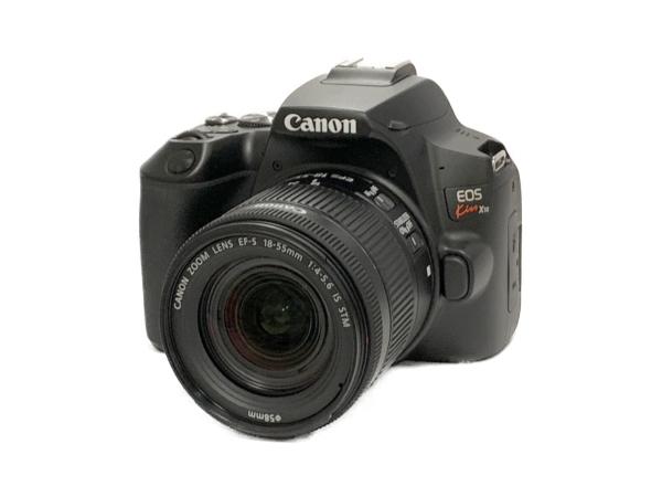 Canon キャノン 一眼レフ EOS Kiss X10 レンズキット ブラック カメラ 2410万画素 4K動画 Wi-Fi