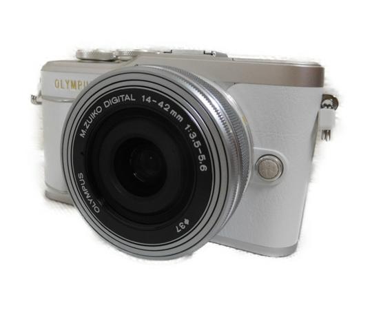 OLYMPUS ミラーレス一眼 PEN E-PL9 14-42mm レンズキット ホワイト
