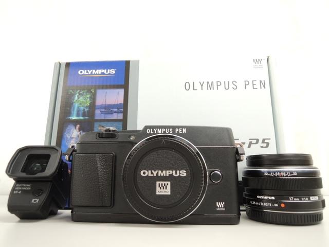OLYMPUS オリンパス PEN E-P5 17mm F1.8 レンズキット BLK カメラ ミラーレス一眼 ブラック