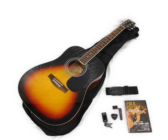アコースティックギター 入門セット ウェスタンタイプ 初心者 教則DVD付 Sepia Crue WG-10/VS ヴィンテージサンバースト